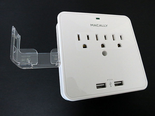 First Look: Macally Power Outlet & Dual USB Charger With Phone Cradle