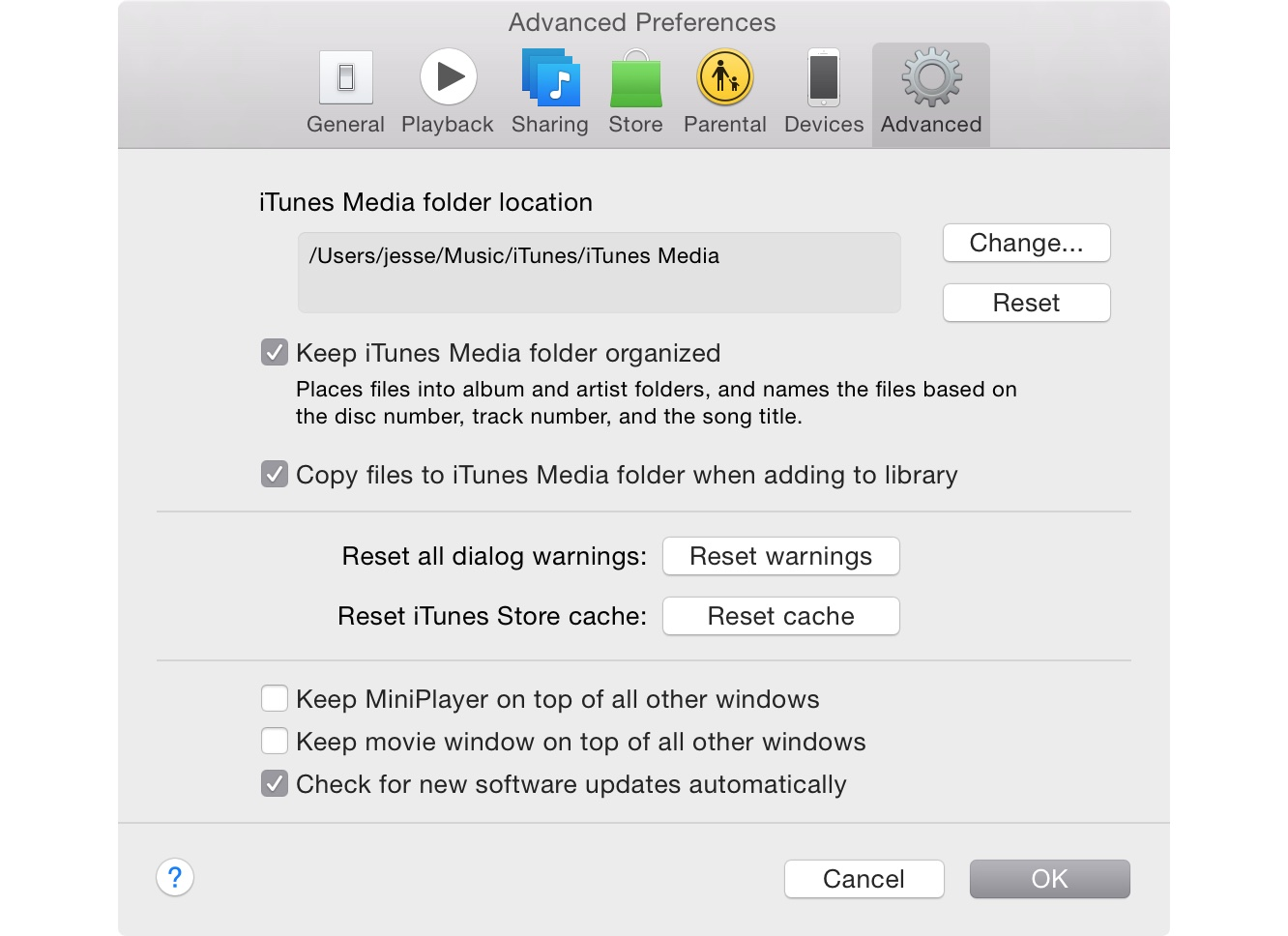 Reorganizing files in the iTunes Media Folder 1