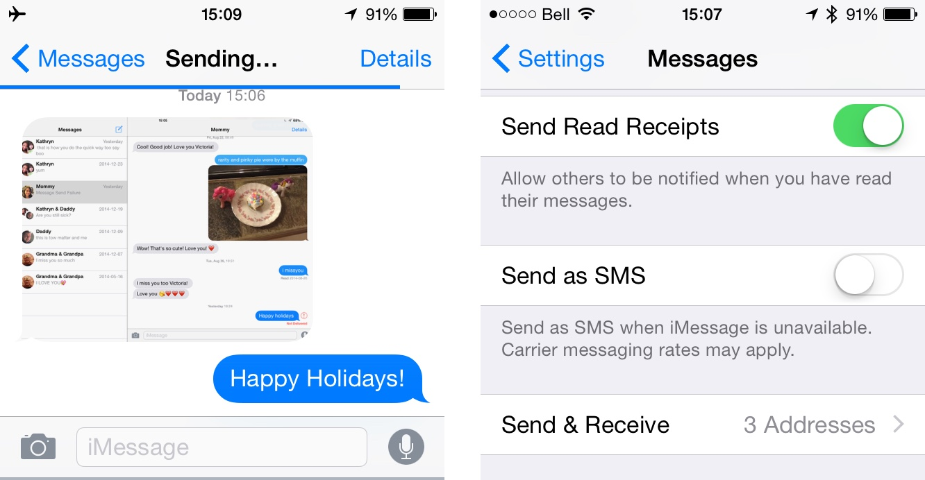 How to delete unread sent messages on messenger