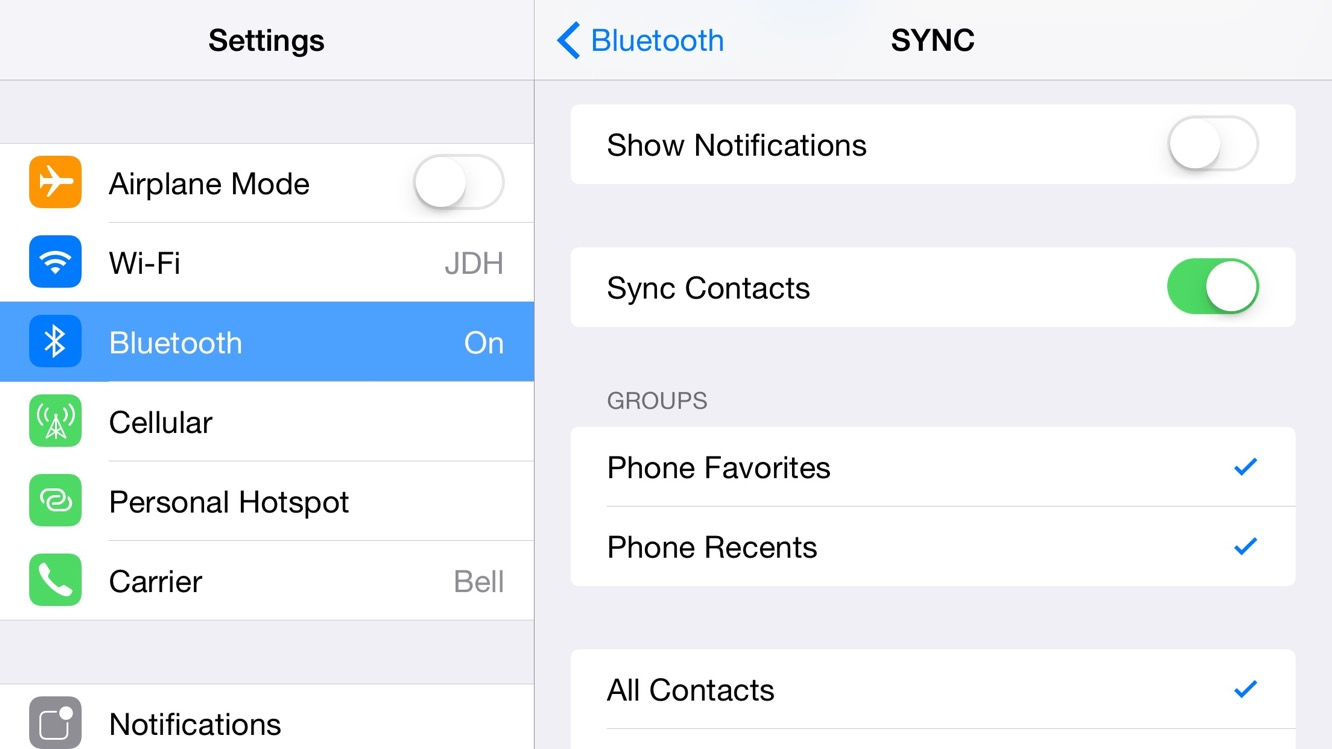 How do I re-sync contacts to my vehicle after switching to a