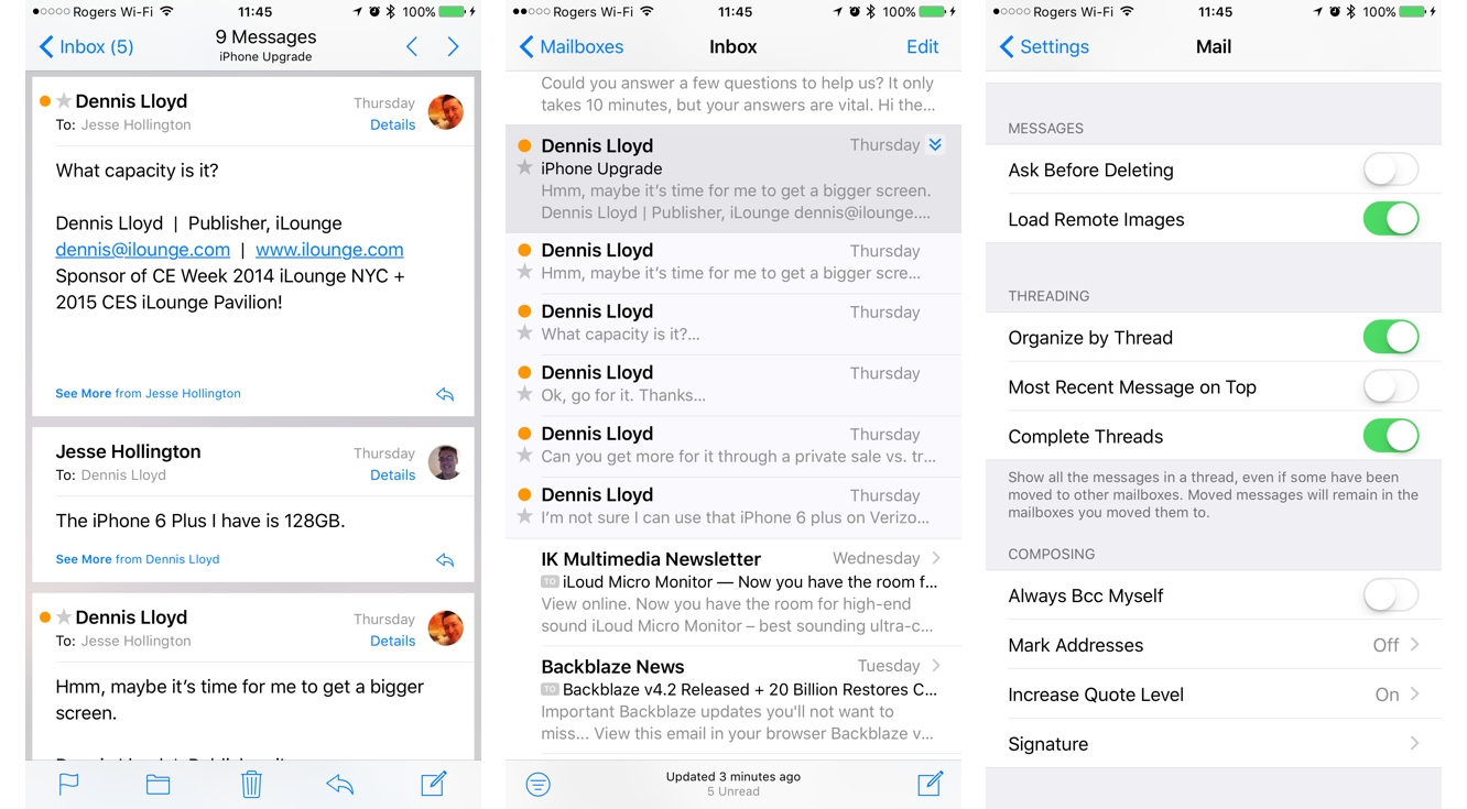 Instant expert secrets features of ios 10 ilounge article to see a list of all of the messages in the thread that are in the current mailbox as in ios 9 you can instead tap the double arrow to the right of buycottarizona