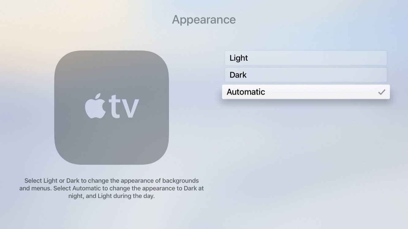 Inside the betas: tvOS 11 adds auto Dark Mode, iCloud Home Screen Sync 3