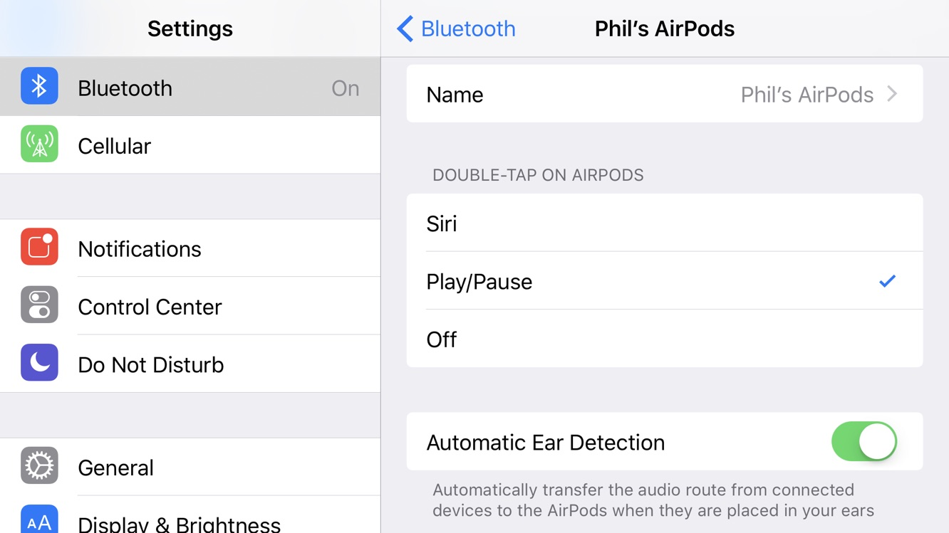 Using Double Tap To Control Play Pause On Airpods
