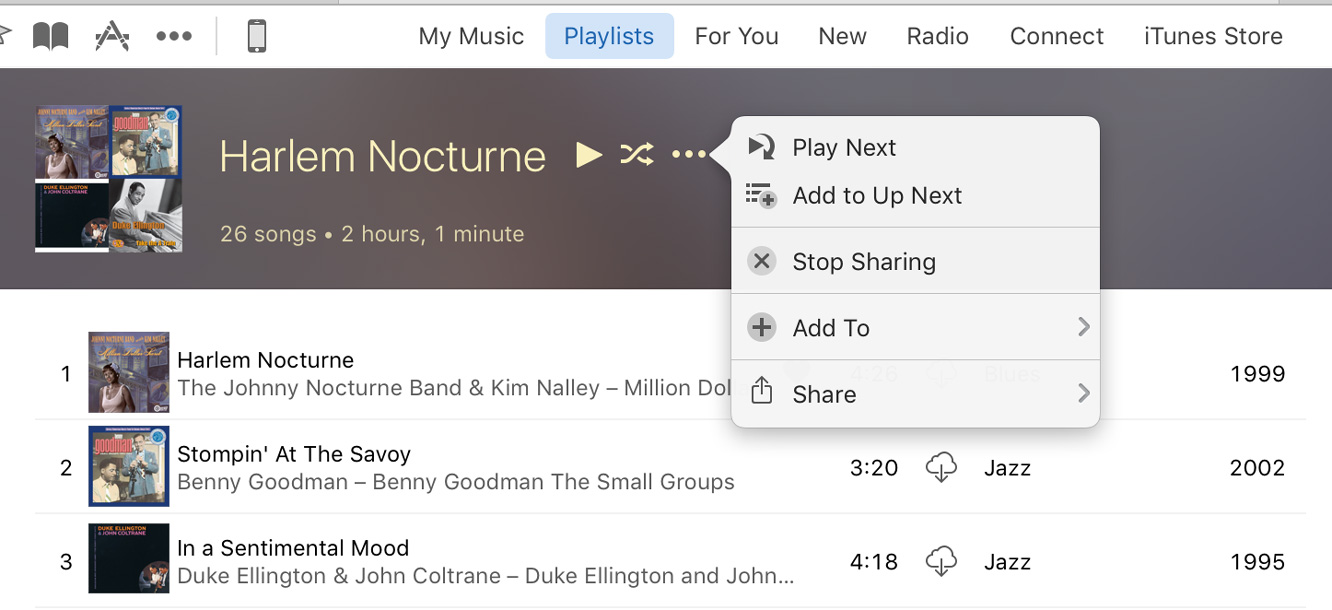 Unsharing Playlists in Apple Music