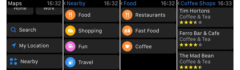 Using 'Nearby' on Apple Watch 1