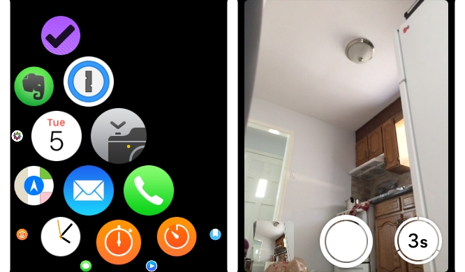 Using the iPhone as a remote camera with Apple Watch 1