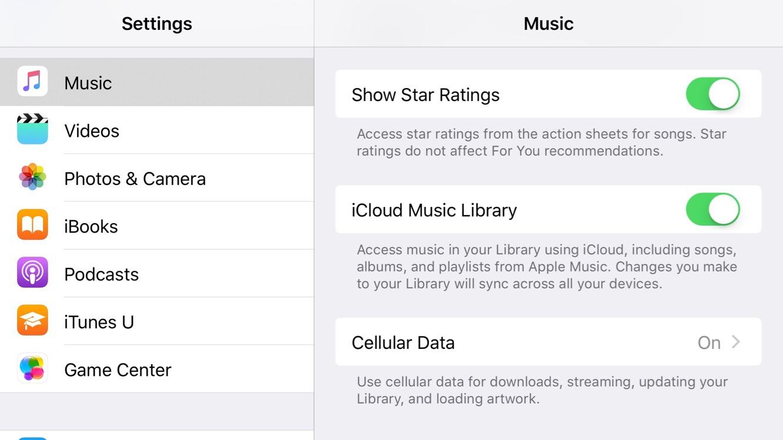 Enabling Star Ratings in the iOS 10.2 Music app