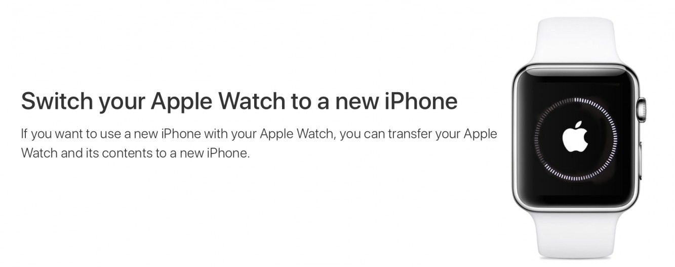 Pairing your Apple Watch with a new iPhone