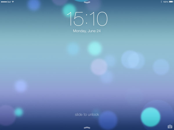Ipad Lock Screen Ios 7 Ios 7 on Ipad Debuted in Ios
