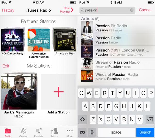 iOS 7: Music, Videos, Photos + Camera 5