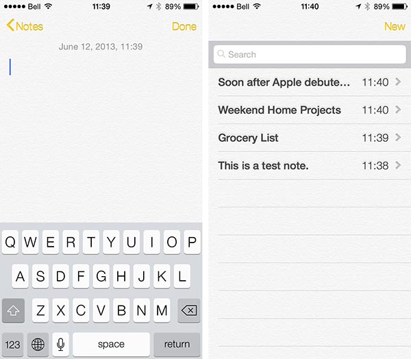 iOS 7: Maps, Passbook, Compass + Notes 12