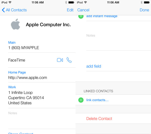 iOS 7: Phone, FaceTime, Messages + Contacts