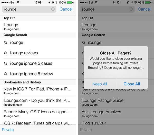 iOS 7: Clock, Game Center, Newsstand + Safari