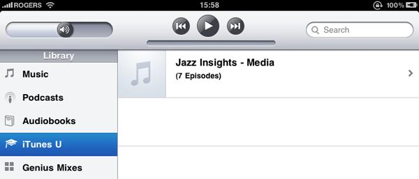 Accessing iTunes U on iPad