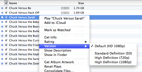 iTunes TV show size totals don't match actual disk storage