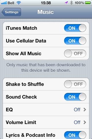 Avoiding automatic sync on iOS devices