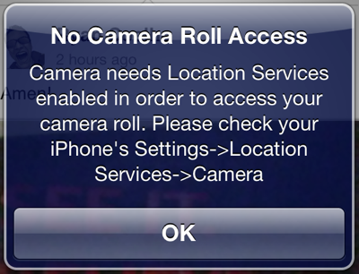 iOS Camera app and Location Services 1
