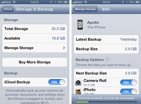 Transferring Apps to a new iPhone using iCloud