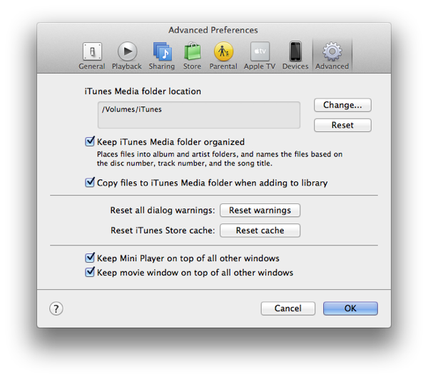 Using iTunes with a MacBook and External Hard Drive