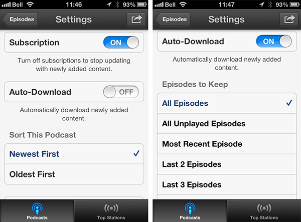 Auto-deleting Episodes in iOS Podcasts App 1