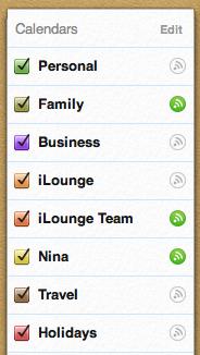 Reordering iOS Calendars