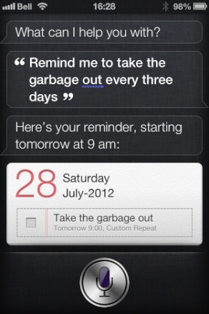 Setting Repeats in Reminders with Siri 1