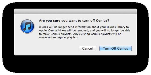 iTunes Genius not creating Playlists 1