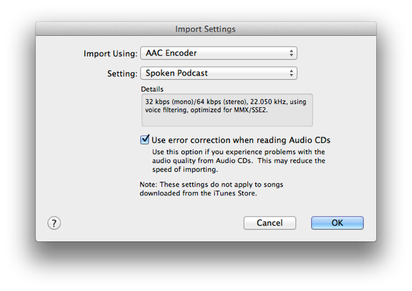 Import Audiobooks from CD into iTunes