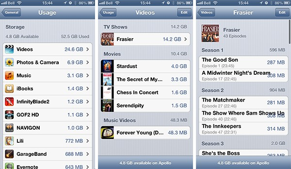 Syncing and finding TV Shows on iPhone
