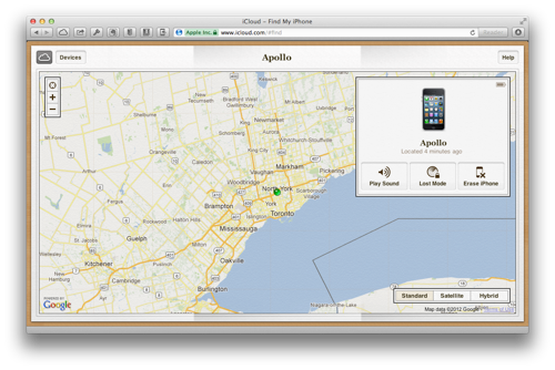 Using Find My iPhone from a PC or Mac
