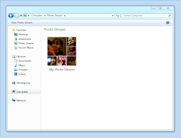 Using Shared Photo Streams on Windows 7
