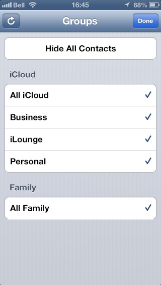 Managing multiple iCloud accounts for Contacts