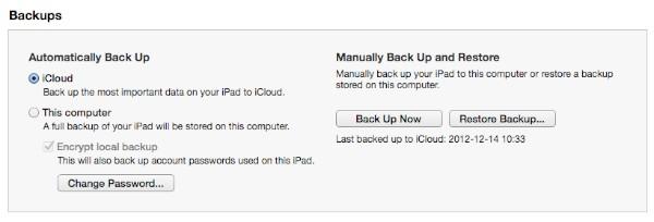 Resetting a forgotten iPad passcode