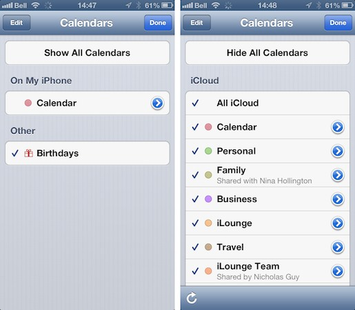 Calendar entries disappear after enabling iCloud