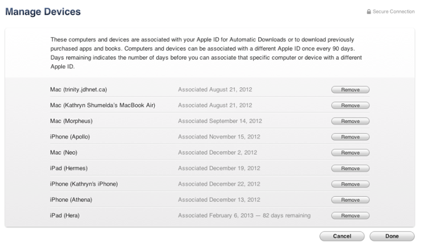 iTunes in the Cloud limitations on iOS devices 5