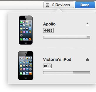 Removing unwanted iOS devices from iTunes