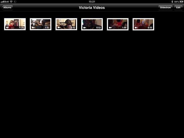 Organizing video collections on an iPad