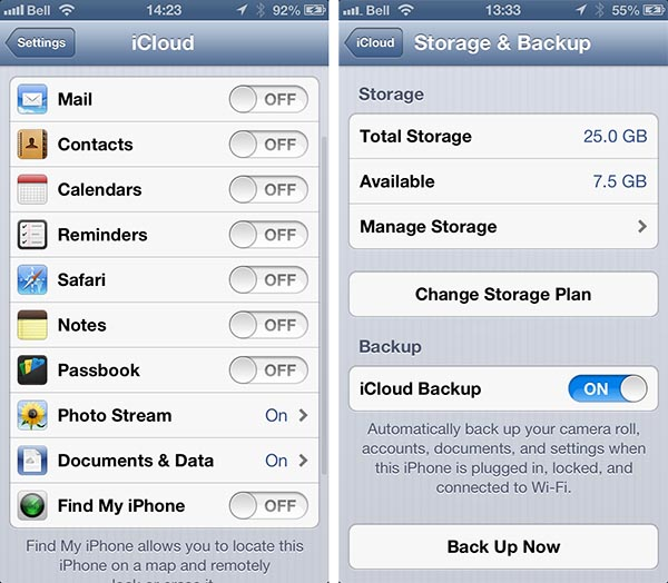 Deleting backups made under another iCloud ID