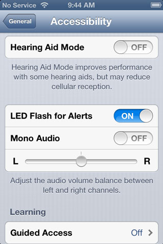 Flashing LED for alerts on iPhone 1