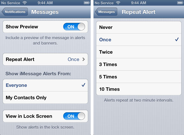 Flashing LED for alerts on iPhone