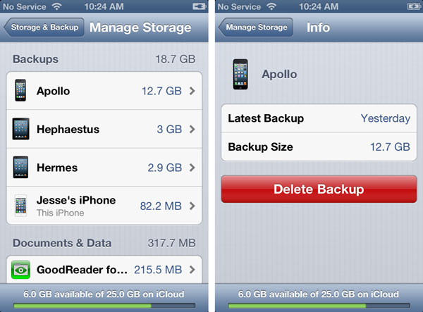 Backing up a damaged iPhone