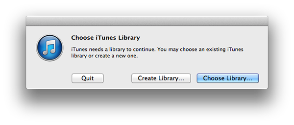 iTunes library disappears after enabling iCloud 4