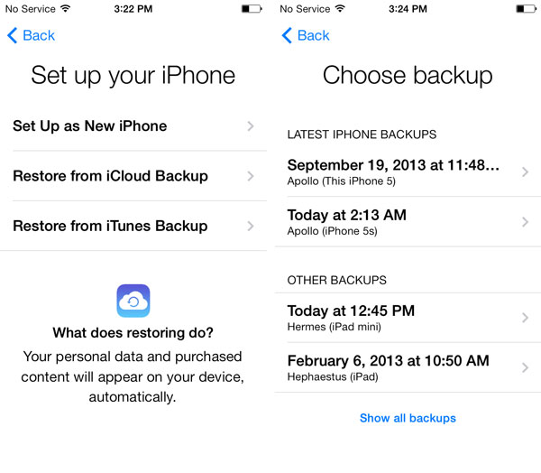 Restoring iCloud backup to a second iPhone 1