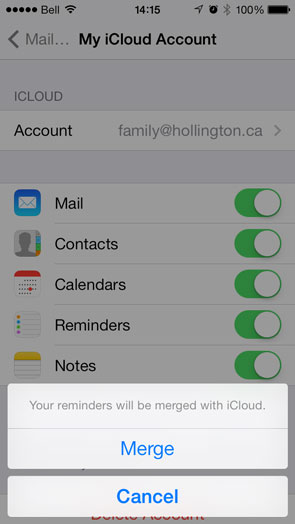 Reminders appearing on multiple iPhones
