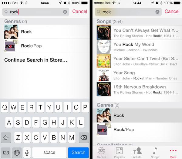 iOS 7: Playing tracks by Genre
