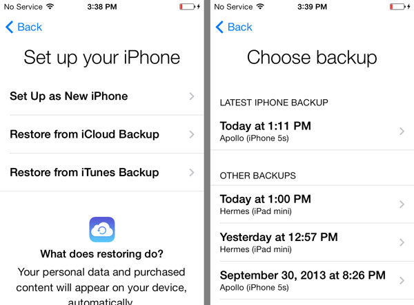 Restoring Text Messages from an iCloud Backup