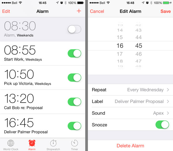 Scheduling Alarms when using Do Not Disturb 1
