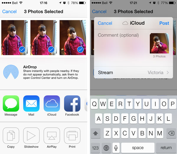 Adding multiple photos to a Shared Photo Stream 1