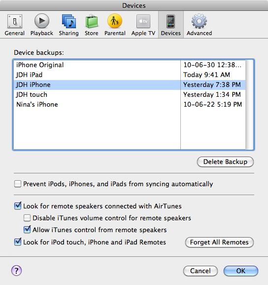 Backing up and erasing iPhone 3G