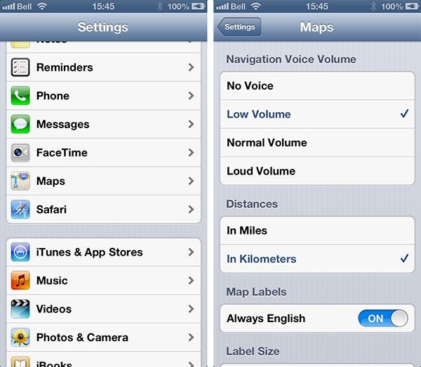 Adjusting Turn-by-Turn volume in iOS Maps